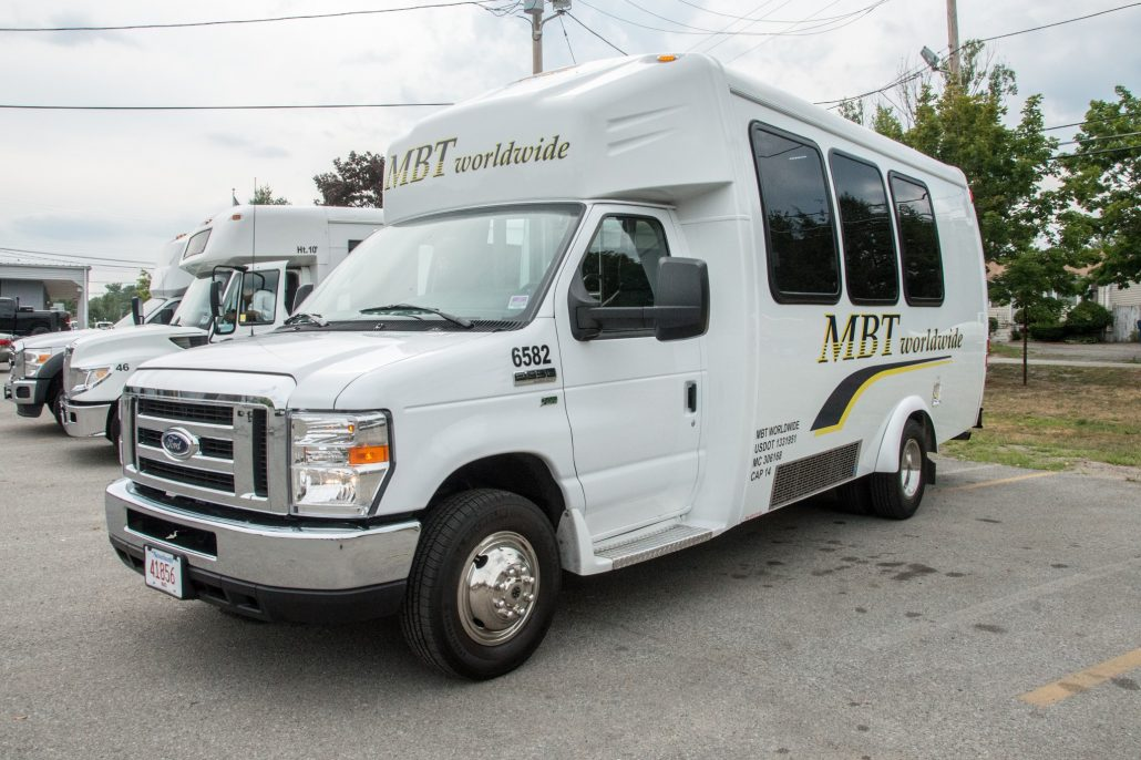 MBT Worldwide a Boston MA based bus & ground transportation - 14 passenger busses.