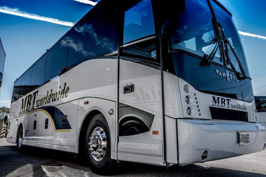 MBT Worldwide a Boston MA based bus & ground transportation company. - 38 Passenger Vehicle