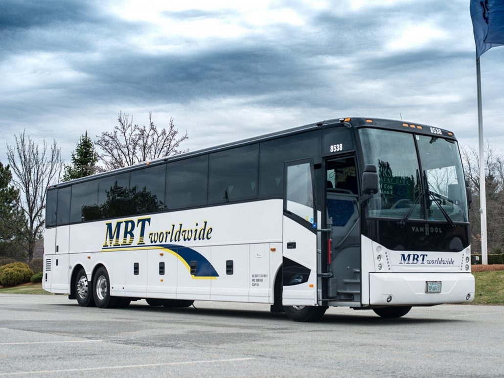 MBT Worldwide a Boston MA based bus & ground transportation company - Exterior 56 Passenger