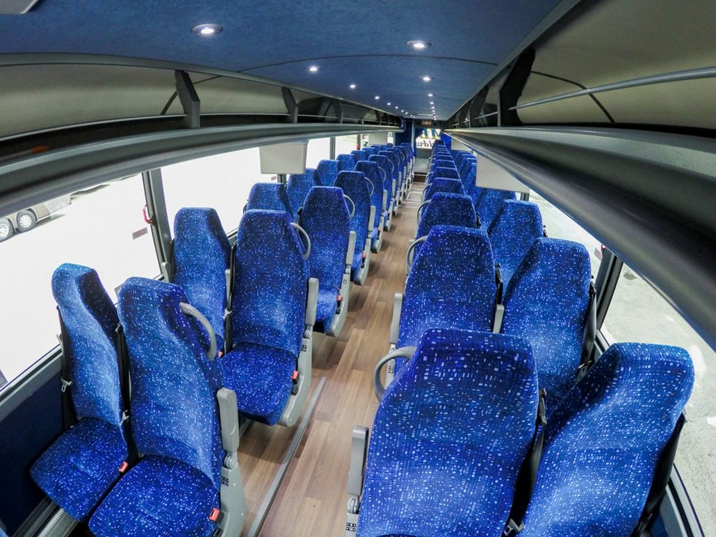 MBT Worldwide a Boston MA based bus & ground transportation company - Seating 56 Passenger
